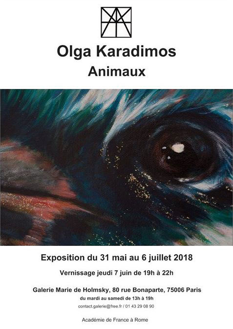 Flyer de l'expo ''Animaux'', 2018